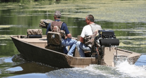 Make sure you have a hunting license and know the local laws on boat hunting
